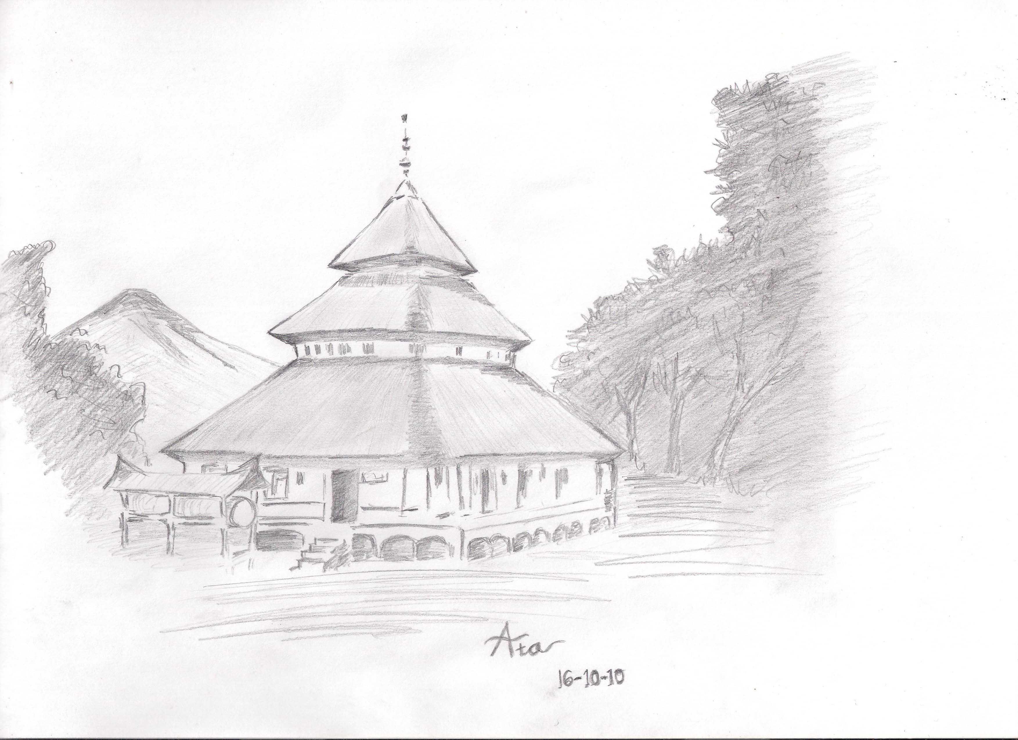 Sketsa Gambar Bangunan Yang Mudah Sobsketsa
